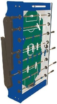 Garlando Foldy - Futbolín con tablero de vidrio templado y arenado, color azul: Amazon.es: Juguetes y juegos