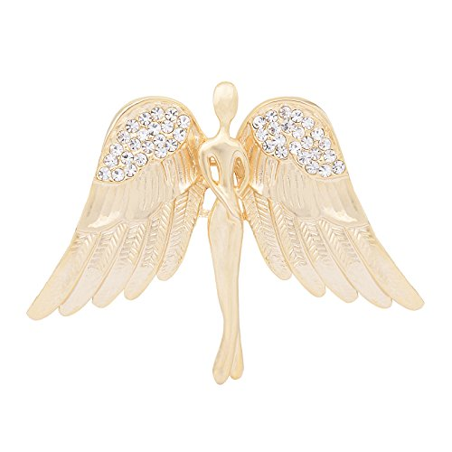 OBONNIE Guardian Angel Jewelry Women's Crystal Flying