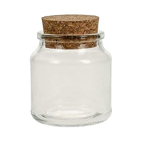 Viva Haushaltswaren - Vaso para Especias (tapón de Corcho, Cristal, 150 ML, Incluye Pala de 7,5 cm de Madera, 20 Unidades): Amazon.es: Hogar
