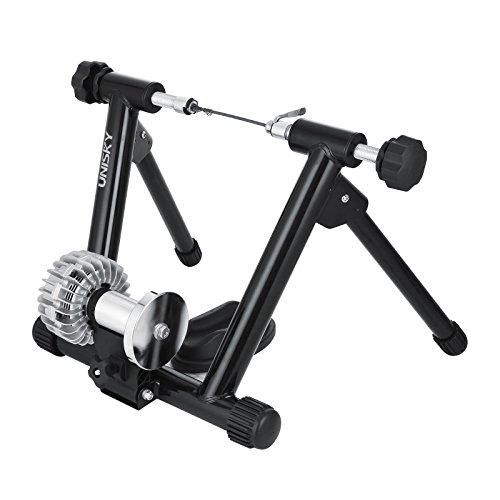 VEVOR Indoor Bike Trainer Exercise Stand with Resistance Shifter Portable Fluid Trainer Resistance Stationary Road Machine Bicycle Exerciser(fluid trainer)) price