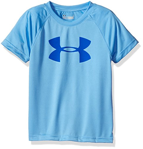 Price comparison product image Under Armour Little Boys' Solid Big Logo Short Sleeve Tee, Carolina Blue, 4T