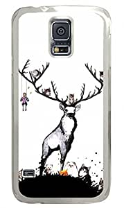 Elk And Cats Clear Hard Case Cover Skin For Samsung Galaxy S5 I9600