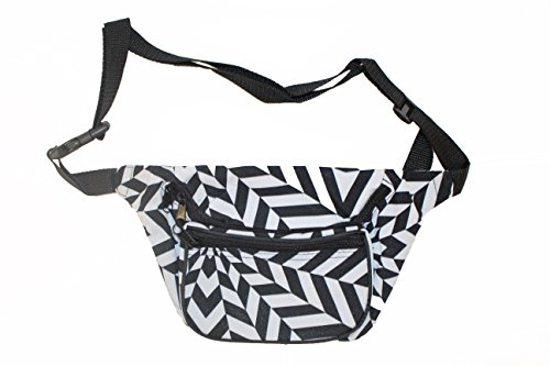 Bam Products Fun Pattern Fashion Fanny Pack Waist Bag (Zig Zag)
