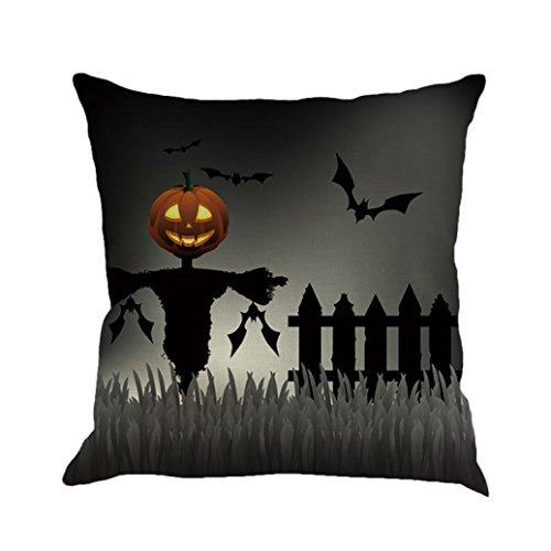 Halloween Decorations Pillow Covers 18x18, Gotd Pumpkin Throw Pillow Case Waist Cushion Cover Home Decor Decorative Pillowcase (Multicolor -