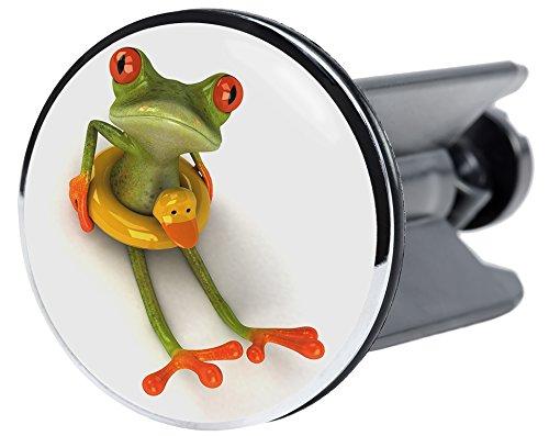 Waschbeckenst/öpsel Frosch hochwertige Qualit/ät ✶✶✶✶✶ passend f/ür alle handels/üblichen Waschbecken