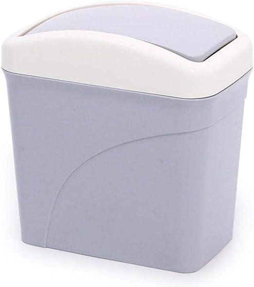 N/ A Caja de Almacenamiento en el hogar Cocina Mini Lindo Cubo de Basura Oficina Baño Bote de Basura Escritorio Caja de Basura Mesa Cubo de Basura Misceláneos Contenedores de barriles: Amazon.es: