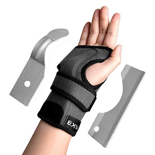 (EXski Carpal Tunnel Wrist Brace - Wrist Support Splint for Arthritis Tendonitis Night Sleep with Palm Cushion Pad Right Left Hand )