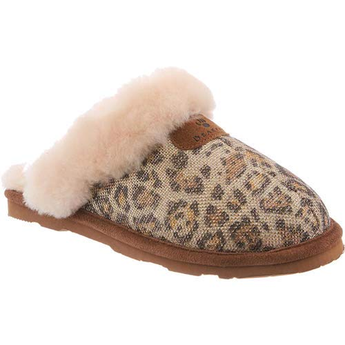 BEARPAW Women's Loki II Slide Slipper Gold Leopard Fabric 11 B(M) US]()