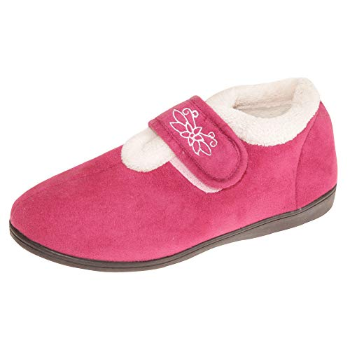 Womens Fuchsia Boots SlumberzzZ Ladies Slipper Ankle TPBXnTdzW