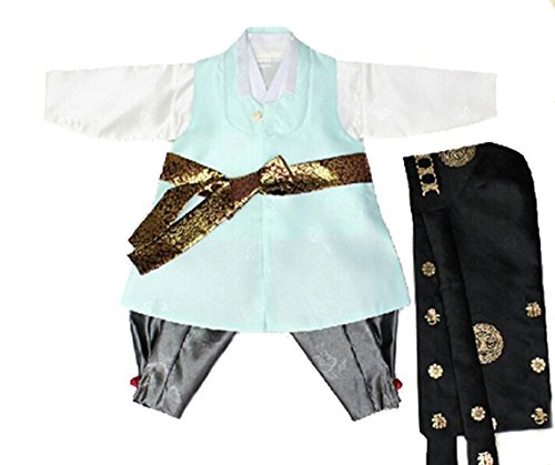 [Korean Hanbok Baby Boy Modern Prince Traditional Costume (Size 1)] (Korean Costume For Boys Kids)