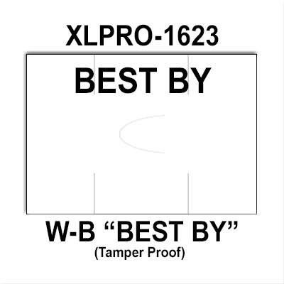 160,000 XLPro compatible 1623 ''Best By'' White General Purpose Labels to fit the XLPRO-1623 Price Guns. Full Case. by Infinity Labels