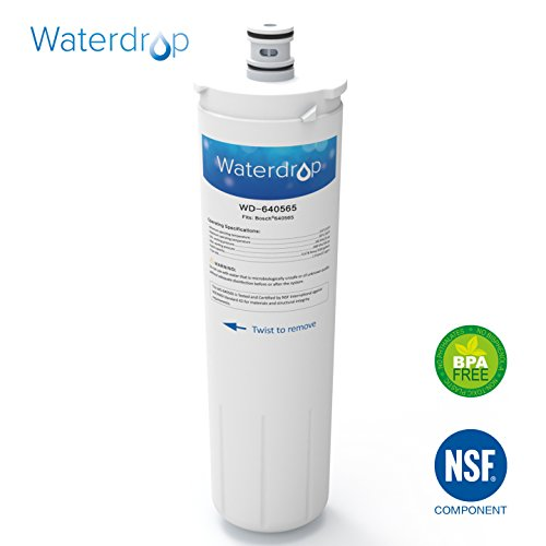 Waterdrop Refrigerator Water Filter, Compatible with Bosch 640565, EVOLFLTR10 AP3961137, Whirlpool WHKF-R-Plus by...