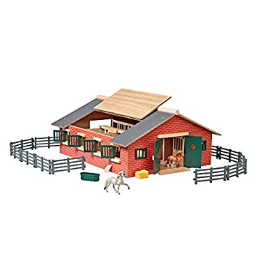 Breyer Stablemates Deluxe Horse Stable Set | 19 Piece Play Set with 2 Horses | 28