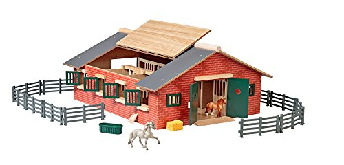- Breyer Stablemates Deluxe Horse Stable Set (1: 32 Scale), Multicolor