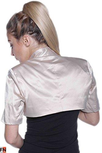 Beige Cuello Sin Redondo Fashionissta Camiseta Para Mujer Mangas xSCOx6n08