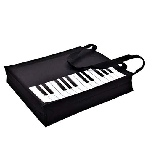 Piano Keys Handbag Reusable Grocery Bag Shoulder Shopping Bag Tote Bag for Music Teacher Girls Gift Bag (Piano Keys Handbag)