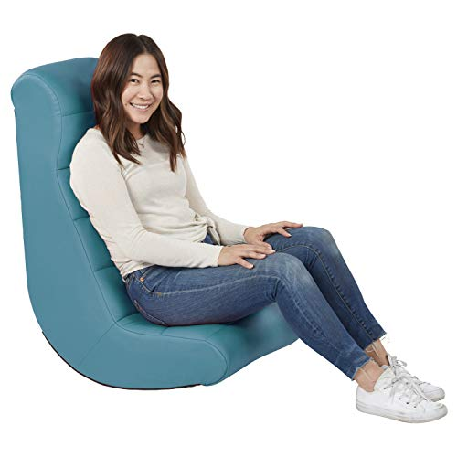 Soft Ergonomic Horizontal Soft Video Rocker- Great for Reading, Gaming, Meditating, or TV for Kids Teens and Adults – Teal