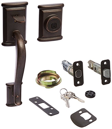 (Kwikset 800ADH LIP 501 SMT RCAL 98001-188 Ash Field Single Cylinder Exterior Only Handle Set Featuring Smart Key, Rustic Bronze)