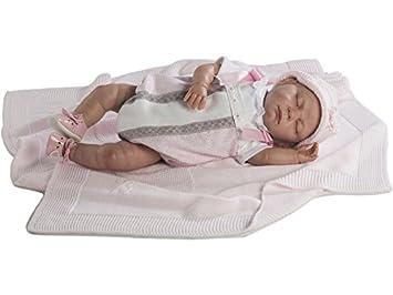Amazon.es: Berbesa Muñeca Reborn Baby 52 cm Pelele Ojos ...
