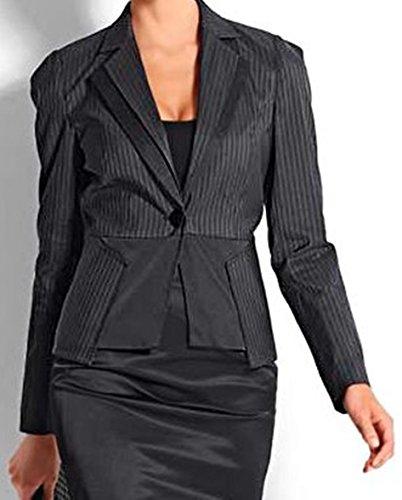 Veste pour femme-blazer satinblazer veste rose/noir rayé -gr. 44–46