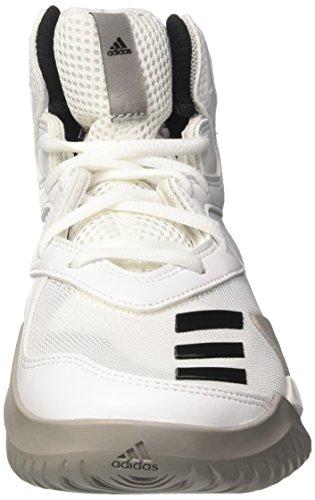 adidas Crazy Team K, Zapatillas de Deporte Unisex Niños Blanco (Ftwbla / Negbas / Grpumg)