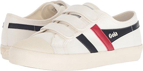 Gola Women's Coaster Velcro Off White/Navy/Red Trainers, Off-White (Off White/Navy/Red Wx), 3 UK 36 EU