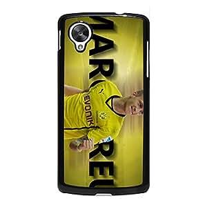 Custom Borussia Dortmund Mobile Phone Case Snap On Google Nexus 5 Official BVB Club Player Marco Reus Attractive Design Dortmund FC Player Cover Case Bundesliga Series