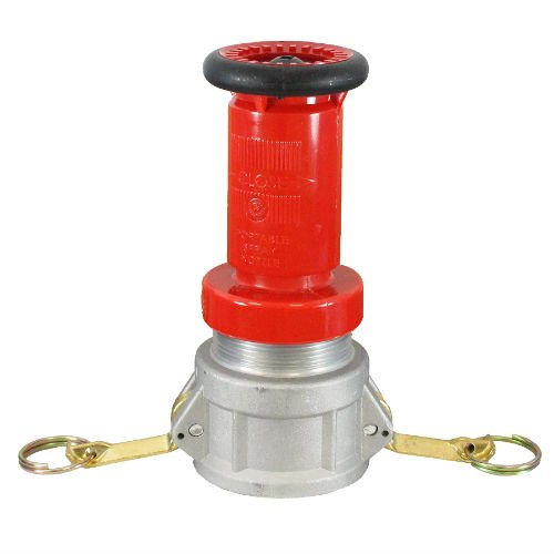 "Aluminum 2"" Camlock Fitting Coupling With Heavy-Duty Plastic Fire Nozzle"