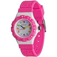 Ovvel Kids Watches, Wrist Watch for Little Girls, Beautiful & Adorable Time Teacher Watch, Innovative Easy–to–Read Design with Japanese Movement & Sony Battery, Gift for Little Girls - Pink