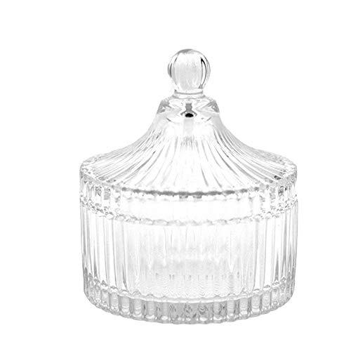 Creative Ceramic Storage Container Crystal Lid Decorative Jar Candle Holder Jewelry Candy Snack Tea Storage Unique Keepsake Trinket Transparent Box Elegant Jewelry Box Dresser Bathroom Places Article ()