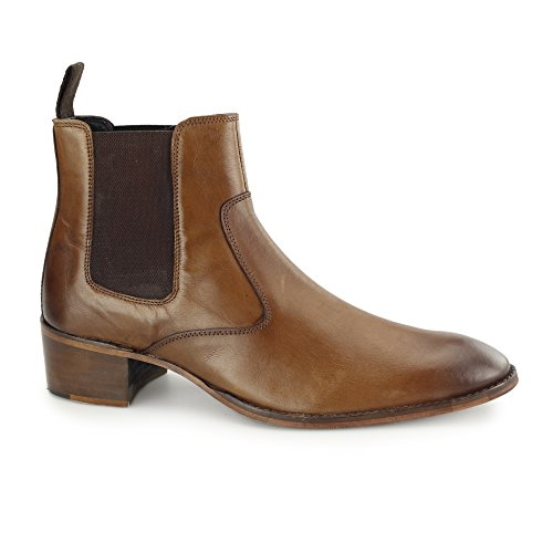 Gucinari Lucca Mens Leather Chelsea Boots Tan Tan
