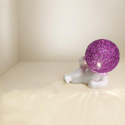 modern Simple desk lamp,Decoration Table lamps Warmth Bedside nightstand lamp marry Bedside desk (Desk Lamp Light Purple Body)