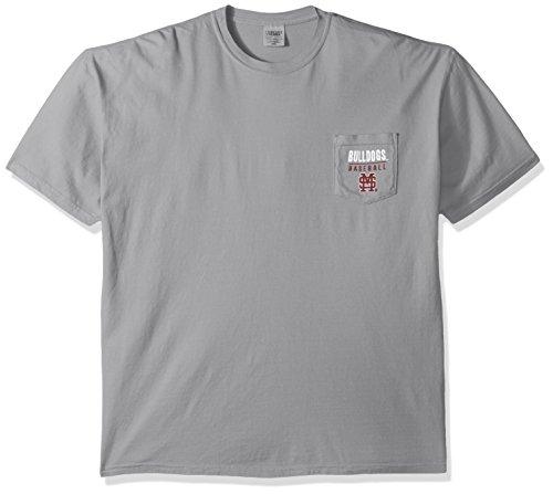 (NCAA Mississippi State Bulldogs Baseball Frame Short Sleeve Pocket T-Shirt, X-Large,Grey)
