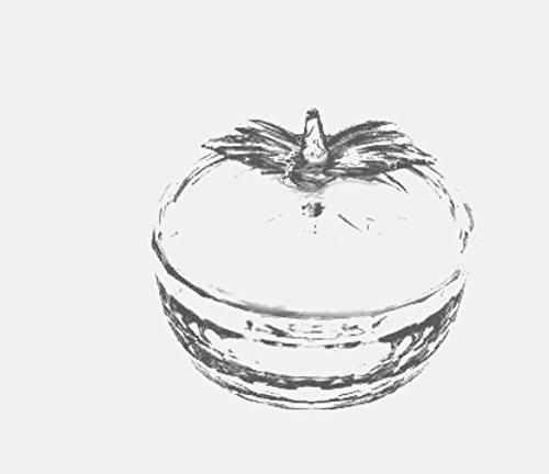 Quality-Judaica-Apple-Shaped-Glass-Honey-Dish-and-Lid-for-Rosh-Hashanah