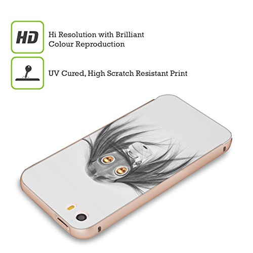Officiel Graham Bradshaw Gaz Illustrations Or Étui Coque Aluminium Bumper Slider pour Apple iPhone 5 / 5s / SE