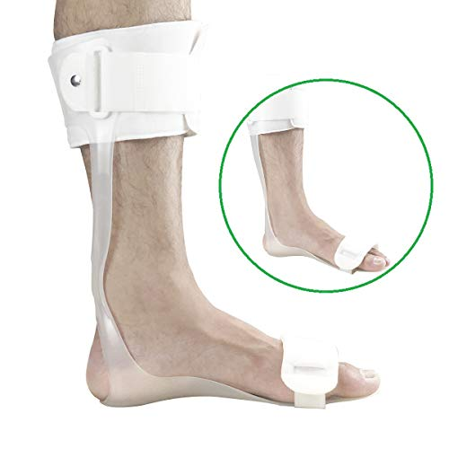 Orthomen Drop Foot Brace AFO Leaf Spring Splint (M-Left)