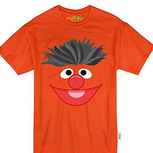 Orange Puppet Face Ernie Halloween Monster Costume Kids