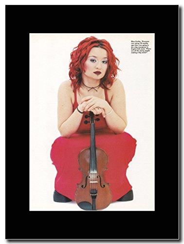 gasolinerainbows - Eliza Carthy - Folk Fiddler. - Matted Mounted Magazine Promotional Artwork on a Black Mount