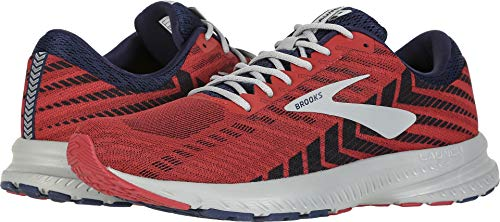 Brooks Men's Launch 6 Cherry/Navy/Grey 9.5 D US