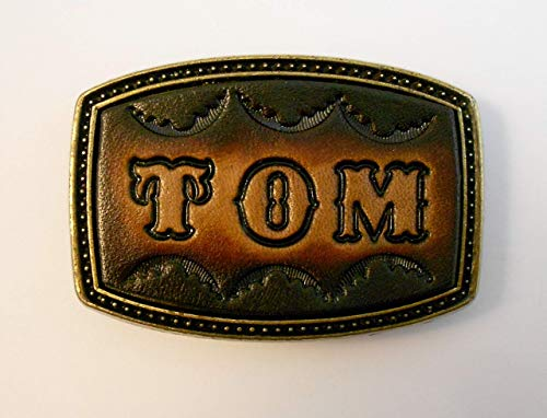(Small Leather Name Buckle For Narrow Belts, 1 to 5 Letters)