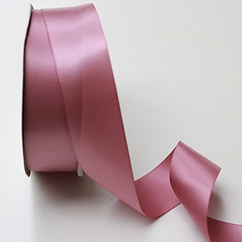 Satin Mauve Ribbon (Rosy Mauve Satin Ribbon - 1.5 Inch X 10 Yards - Double Faced - Ribbon Satin Pink)