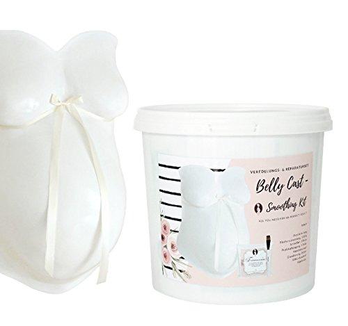 Veredelungs- & ReparaturSet, 15 Teile für den Babybauch Gipsabdruck I Mommy & Baby I 3D Baby Abdruck glätten, aufhängen, bemalen aufhängen