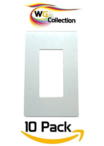 WG Collection 1- Gang Decorator Screwless Wall Plate 10 Pack