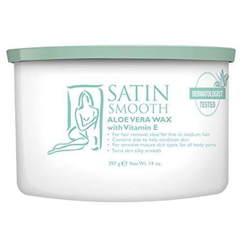 Satin Smooth Finish - Satin Smooth Aloe Vera Soft Wax (Strip) 400g (14 oz) Can