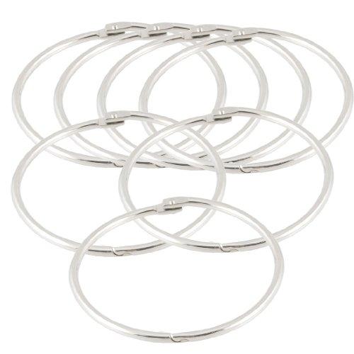 Metal Loose Leaf Rings Binder Keyrings, 3.5-inch, 7 Pcs