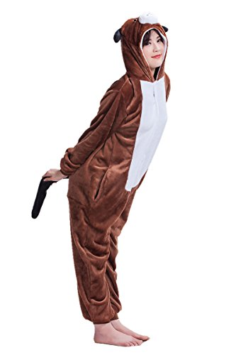 Unisex-Adult Anime Cosplay Outfit Dog Halloween Costumes Pajamas S]()