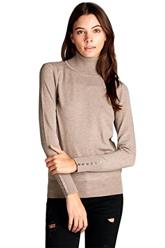 Womens Long Sleeve Turtleneck Sweater - 6