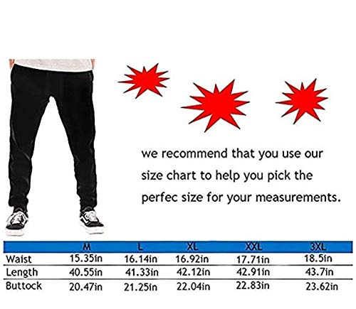 Mens Casual Joggers Pants Trousers Sweatpants with Drawstring Hjgs Dunder Mifflin Inc