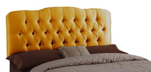 Skyline Furniture Surrey Full Shantung-Upholstered Tufted Headboard, Aztec Gold