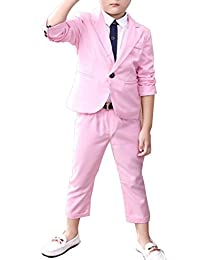 0bbfcc1d187 Boys Blue   Pink Suit Set 2 Pieces Blue   Pink Blazer and Pants Set